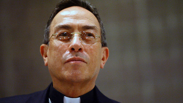 PHOTO: Honduran Cardinal Oscar Rodriguez Maradiaga, July 19, 2012, in San Jose.