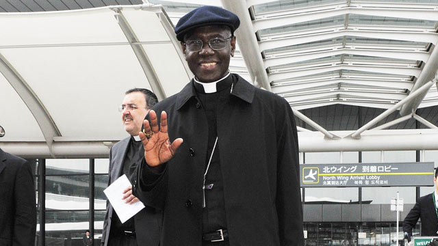 PHOTO: Cardinal Robert Sarah arrives at Narita International Airport, May 13, 2011, in Narita, Japan. The Vatican sent Cardinal Sarah to Tokyo to show support for victims of the earthquake and tsunami that devastated parts of Japan.
