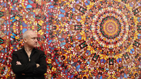 gty damien hirst exhibit ss Thg 120402 wblog Today in Pictures: Hindu Goddess festival, Damien Hirst, MyanMar Cheer, Bieber Slimed and The Pope