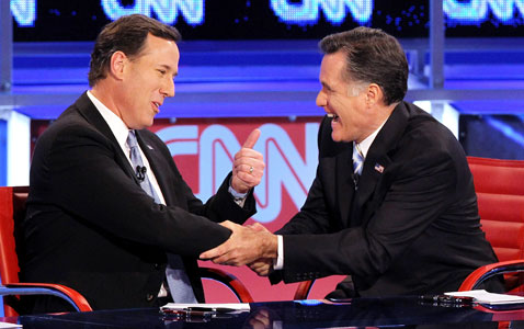 gty debate santorum nt 120223 wblog Today in Pictures: Syria Mourners, Republican Debate, and Avalanches in Kashmir
