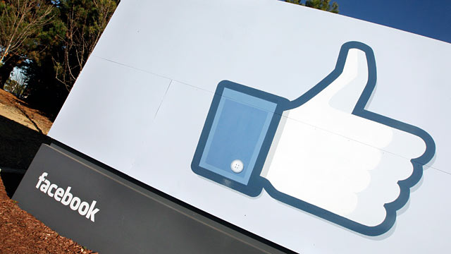 PHOTO: The Facebook logo is displayed outside of Facebooks new headquarters in Menlo Park, Calif., Jan. 12, 2012.