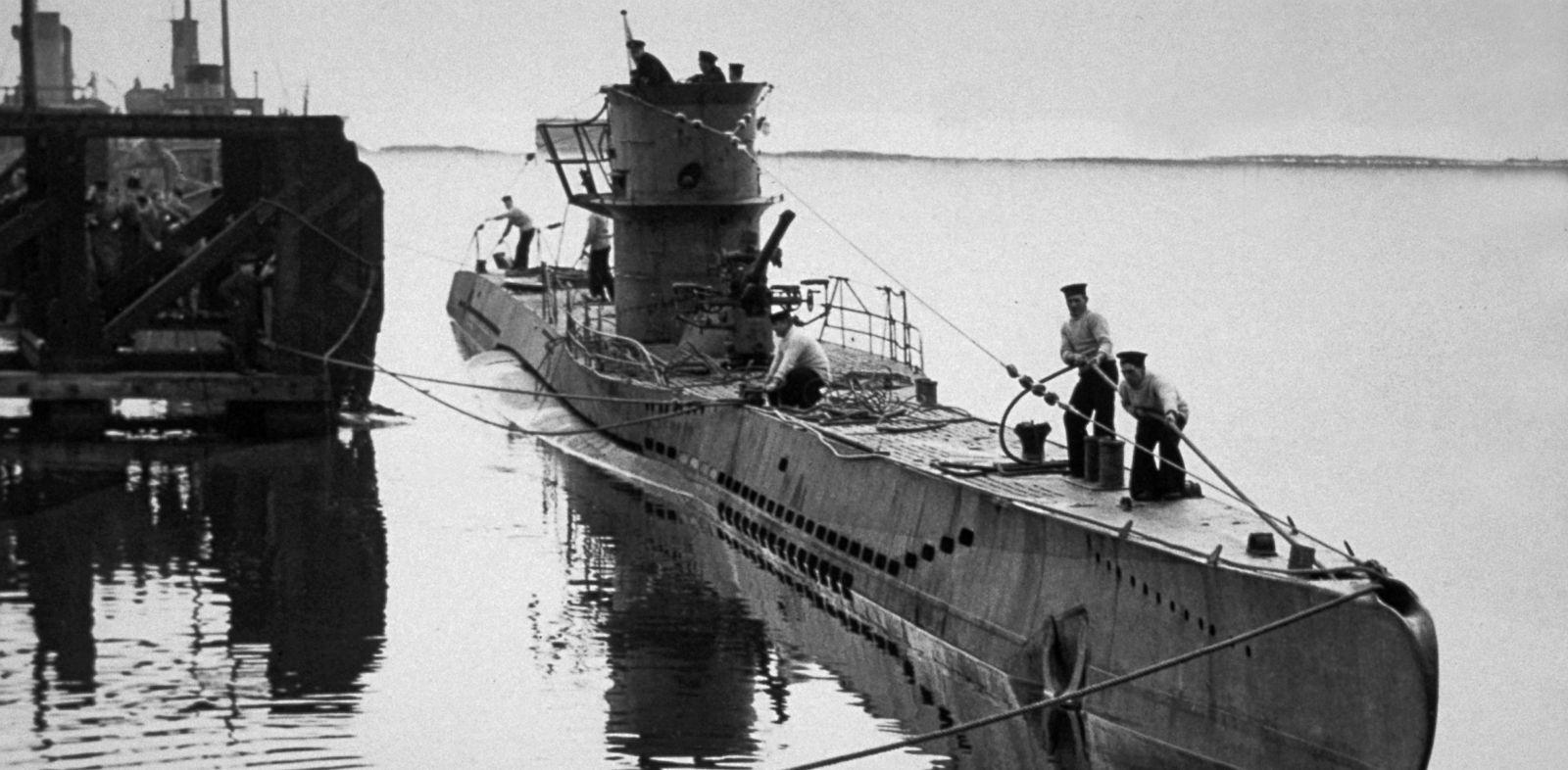 PHOTO: A World War II era German U-Boat is shown in this circa 1941 photo.