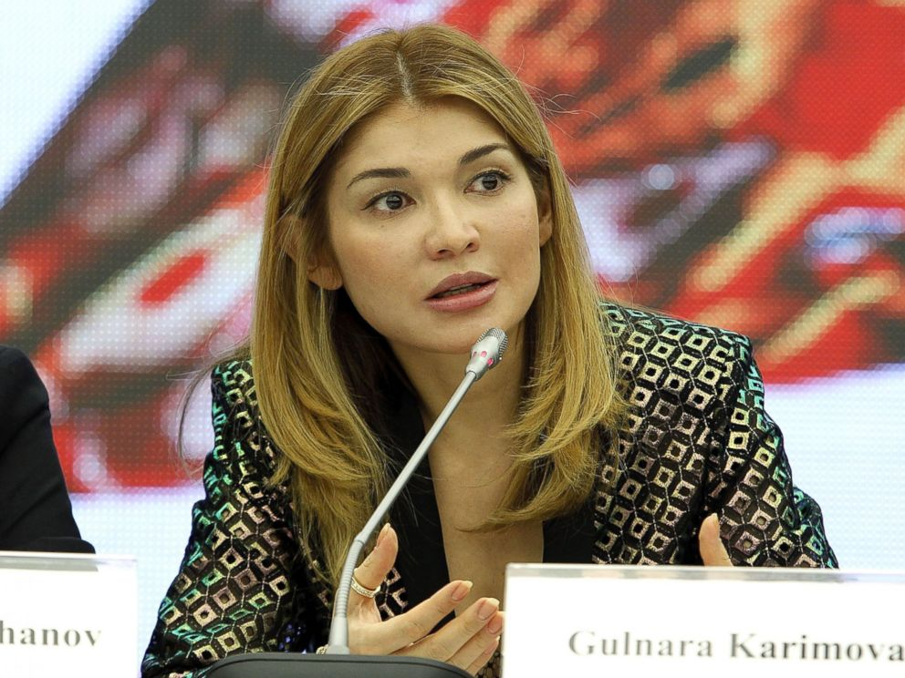 PHOTO: H.E.Dr. Gulnara Karimova Chairwoman of the Fund Forum Board of Trustees attends a press conference during Style.Uz Art Week at The Youth Art Palace on Oct. 22, 2013 in Tashkent, Uzbekistan.