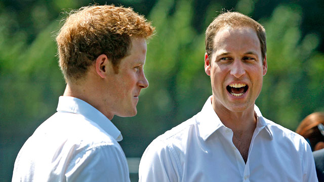 PHOTO: Prince William, Duke of Cambridge, and Prince Harry visit Bacon's College on July 26, 2012 in London, England.