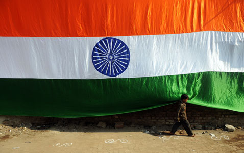gty india flag nt 120124 wblog Today in Pictures: Jan. 24, 2012