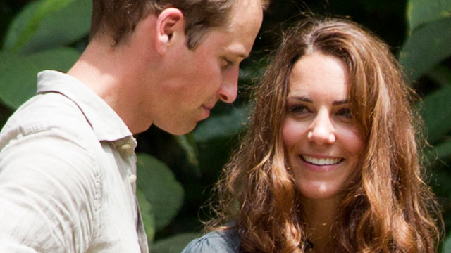 PHOTO: Britains Prince William and Catherine, the Duchess of Cambridge, speak to each other during their visit at the Borneo Rainforest Lodge in Danum Valley, some 44 miles west of Lahad Datu, on the island of Borneo, Sept. 15, 2012.