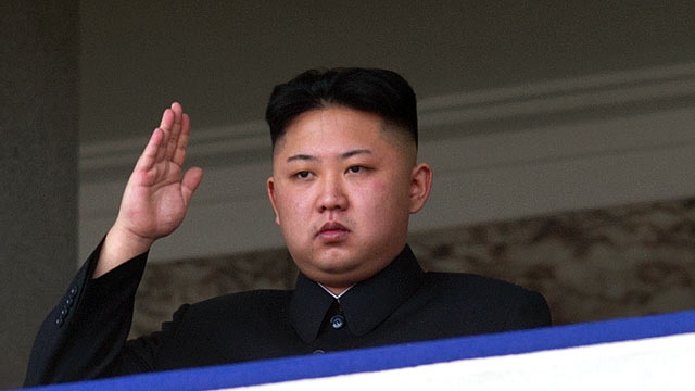 PHOTO: North Korean leader Kim Jong-Un saluting as he watches a military parade to mark 100 years since the birth of the countrys founder and his grandfather, Kim Il-Sung, in Pyongyang, April 15, 2012.