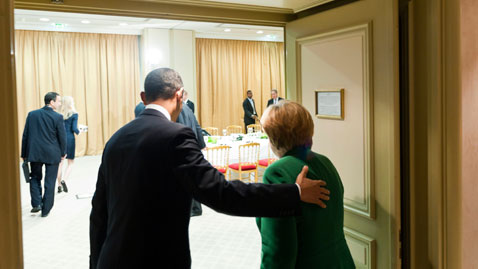 gty obama merkel nt 111103 wblog Today in Pictures: Nov. 3, 2011