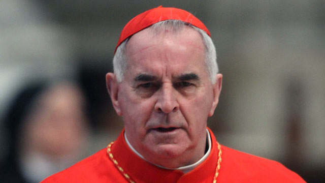 PHOTO: Cardinal Keith OBrien, archbishop of Saint Andrews and Edinburgh attends a mass held by pope Benedict XVI in St. Peters Basilica on Feb. 19, 2012 in Vatican City, Vatican.