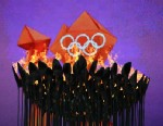 PHOTO: The Olympic flame burns at the Olympic stadium during the London 2012 Olympic Games, Aug. 3, 2012, in London.