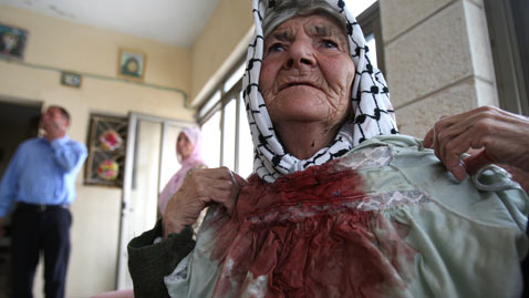 gty palestinian blood nt 111031 wblog Today in Pictures: Oct. 31, 2011