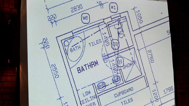 PHOTO: Blueprint of Oscar Pistorius' apartment