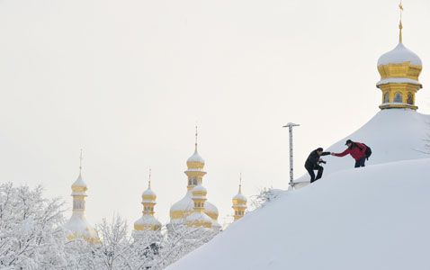 gty snow russia nt 120123 wblog Today in Pictures: Jan. 23, 2012