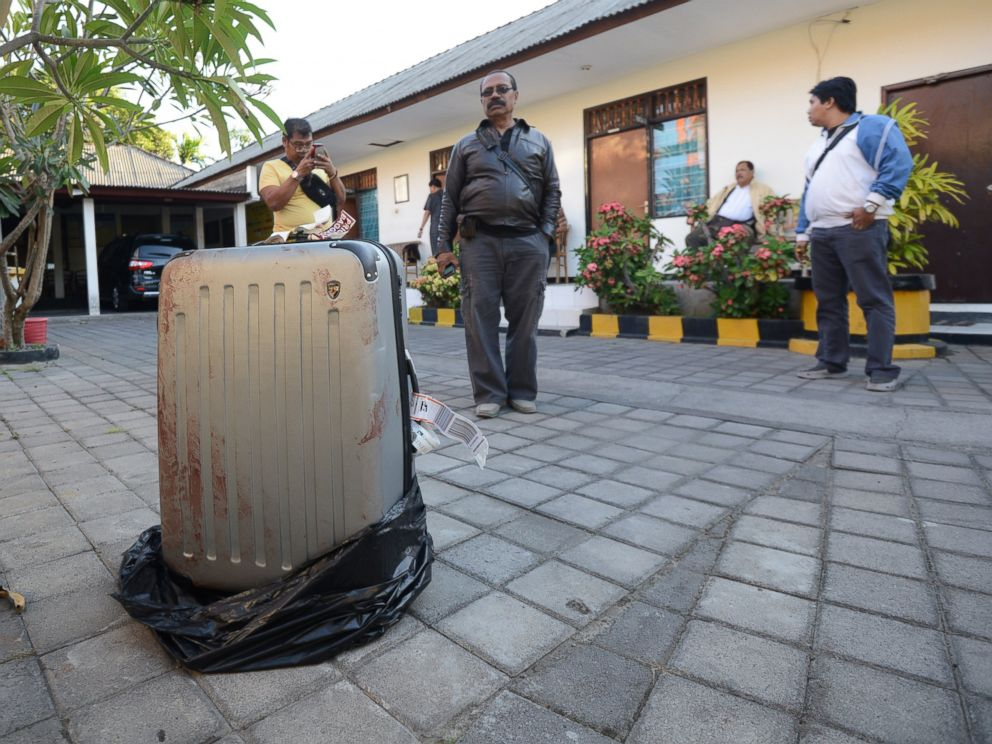 PHOTO: A US tourists battered body has been found in a suitcase, seen here, at the exclusive hotel on Indonesias resort island of Bali, on Aug. 12, 2014.