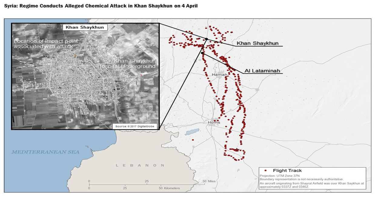 Us Releases Flight Path Of Plane Used In Syria Chemical Attack Abc - Us-track-map-it