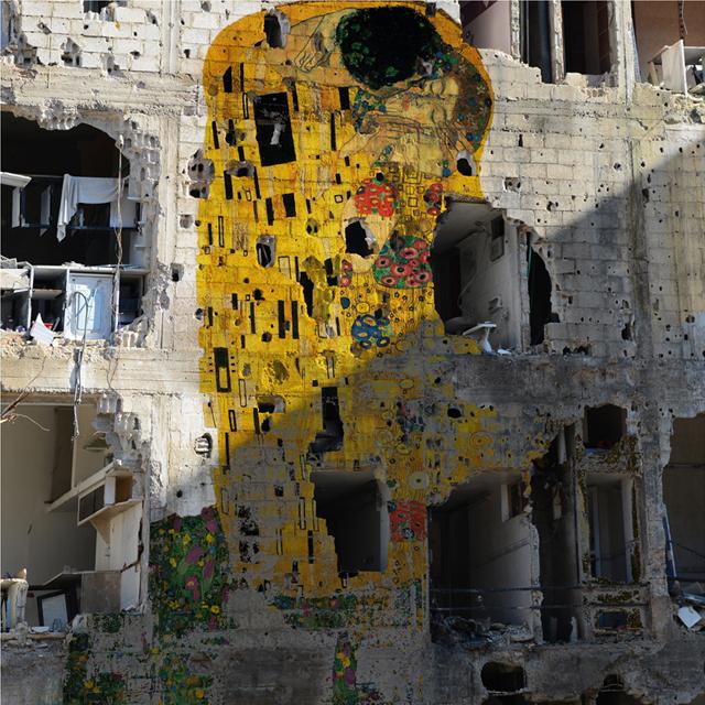 ht Tammam Azzam Gustav Klimt The Kiss kb 130503 blog Tammam Azzam   The Syrian Museum