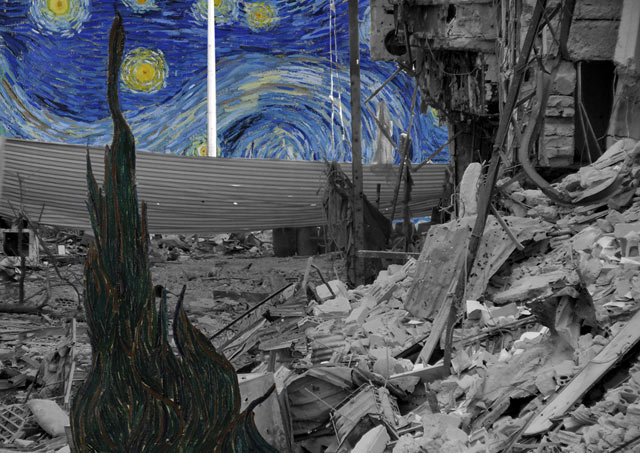 ht Tammam Van Gogh Starry Night kb 130503 blog Tammam Azzam   The Syrian Museum