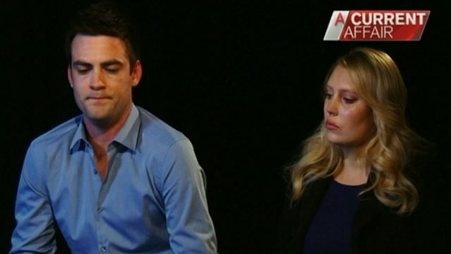 "PHOTO: Australian 2Day FM radio presenters Michael Christian and Mel Greig discuss the recent prank they pulled with ""A Current Affair."""