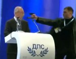 PHOTO: A man stormed onstage and confronted a Bulgarian leader with a gas pistol during a televised speech.