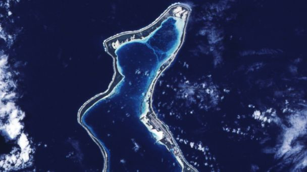 PHOTO: Pictured is a satellite image of Diego Garcia.