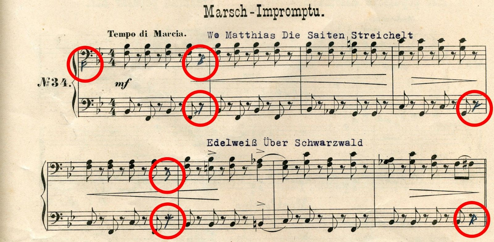 PHOTO: This sheet of music is posted on Dutch journalist Karl Kaatees website; there are claims that the score contains a code leading to Nazi treasure.