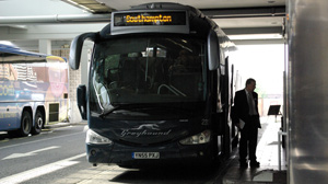 PHOTO Greyhound now operates two bus routes in England, including one linking London to Southampton on the South Coast.