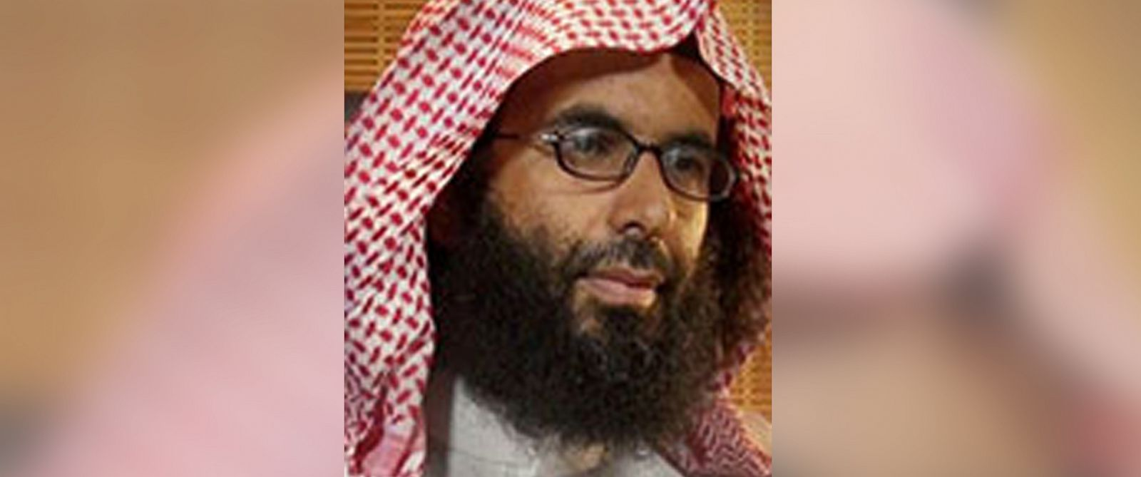 "PHOTO: Ibrahim al-Rubaysh is seen in this undated photo posted to ""Rewards for Justice"", a US government site."