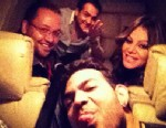 PHOTO: Jenni Rivera, far right, is seen in this photo on her way to the airport before her fatal crash, Dec. 9, 2012.