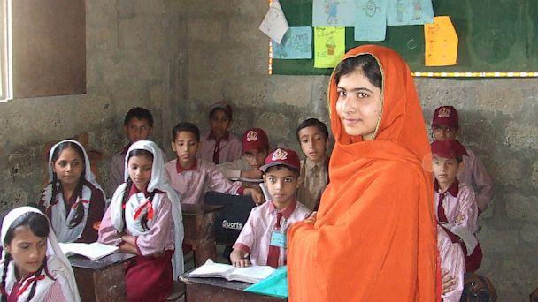 PHOTO: Malala Yousafzai visits Karachi school for girls