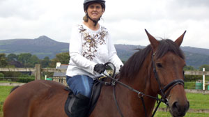 Carole Mundy and her horse Dylan