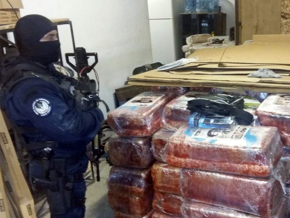 PHOTO: Federal Police in Mexico announced that they recovered 873 packages of marijuana weighing roughly 10 tons at the site of a tunnel used to smuggle drugs between Tijuana and San Diego on Oct. 22, 2015.
