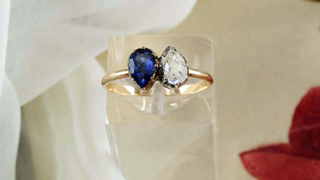 PHOTO: Napoleon Bonaparte presented his fiance Josephine with a diamond and sapphire engagement ring.