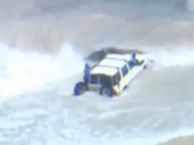 PHOTO: A man drove his car into the ocean in an attempt to escape police.