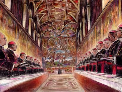 Selection of a new Pope: Conclave Sketches