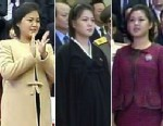 PHOTO: From left to right; Ri Sol-Ju on Oct. 29th 2012, Dec. 17th 2012, and New Years Day appearing slimmer than last October.