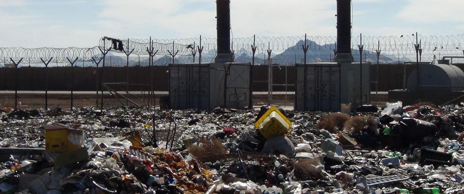 PHOTO: An unused waste incinerator in Shindand in Herat, Afghanistan.