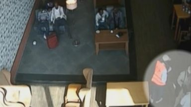 PHOTO: Somali authorities released video footage from inside Mogadishus airport that they say shows a laptop packed with explosives being handed to a passenger before a mid-air explosion on Feb. 2, 2016.