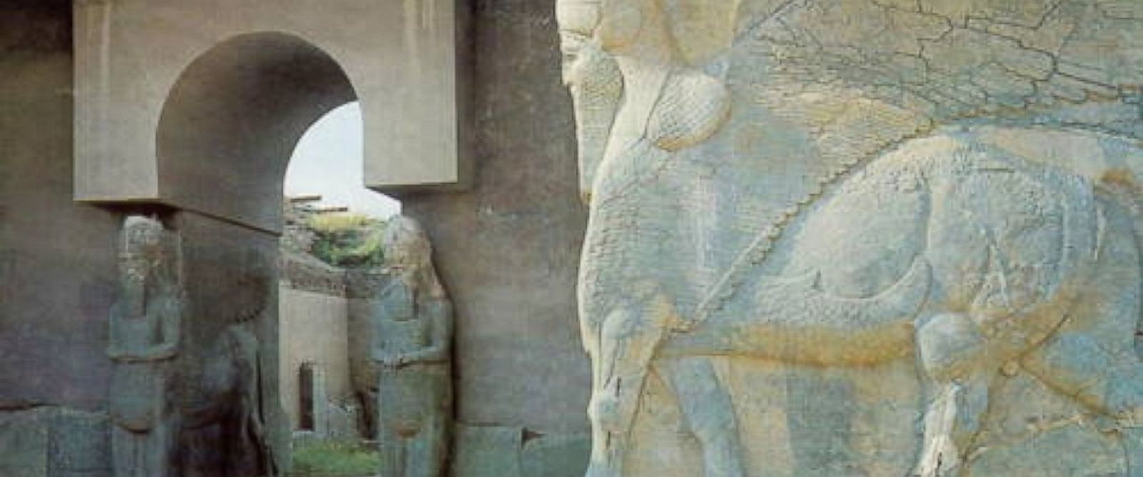 PHOTO: UNESCO provided this photo showing Nimrud Lamassus at the North West Palace of Ashurnasirpal, Iraq.