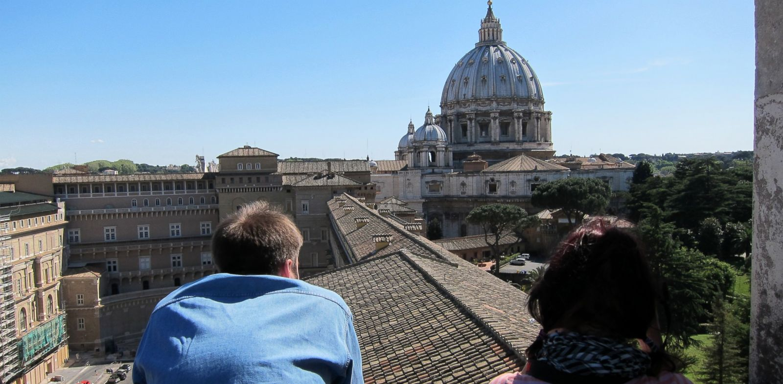 "PHOTO: Spectacular view of Rome from the balcony of the ""Tower of the Winds,"" the Vaticans first astronomy tower."