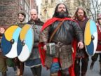 PHOTO: Viking warriors arrive in York for the start of the 30th JORVIK Viking Festival, and to find out if the prediction of Ragnarok, the Norse Apocalyse, will indeed come true Feb. 22, 2014.