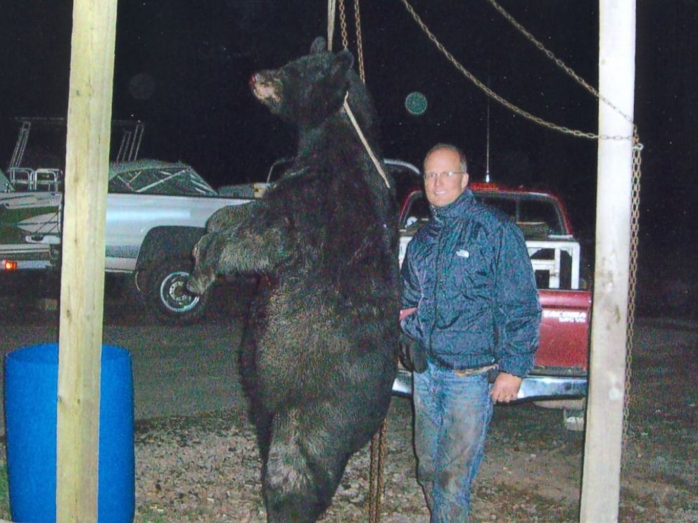 PHOTO: Palmer poses with the black bear he shot and killed in Wisconsin outside of an authorized hunting zone in 2006.