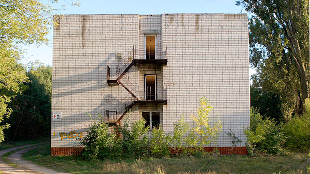 PHOTO: Abandoned house in Wuensdorf, Brandenburg, former headquarters of the Soviet forces in Germany.