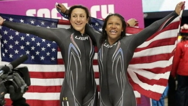Lauryn Williams and Elana Meyers narrowly missed gold; U.S. will face Canada in hockey semis.