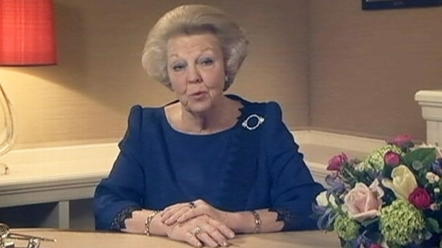 VIDEO: Netherlands Queen Beatrix will abdicate her throne to make way for eldest son.