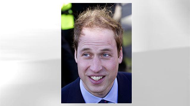 PHOTO: Prince William visits St. Andrews University.