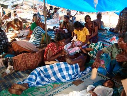 Sri Lanka injured civilians
