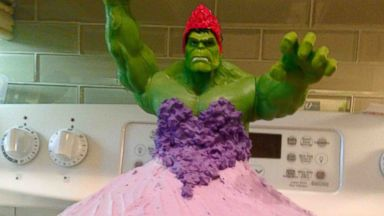 PHOTO: Twin 4-Year-Old Girls Hulk Princess Birthday Cake Smashes Sweet Stereotypes