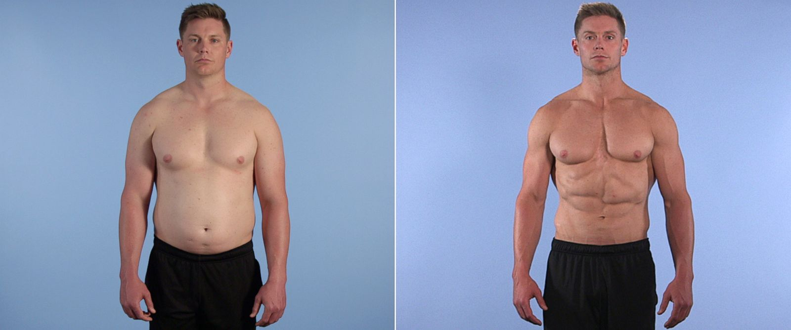 PHOTO: Trainer JJ Peterson went from weighing 184 pounds to 245 pounds in 120 days.