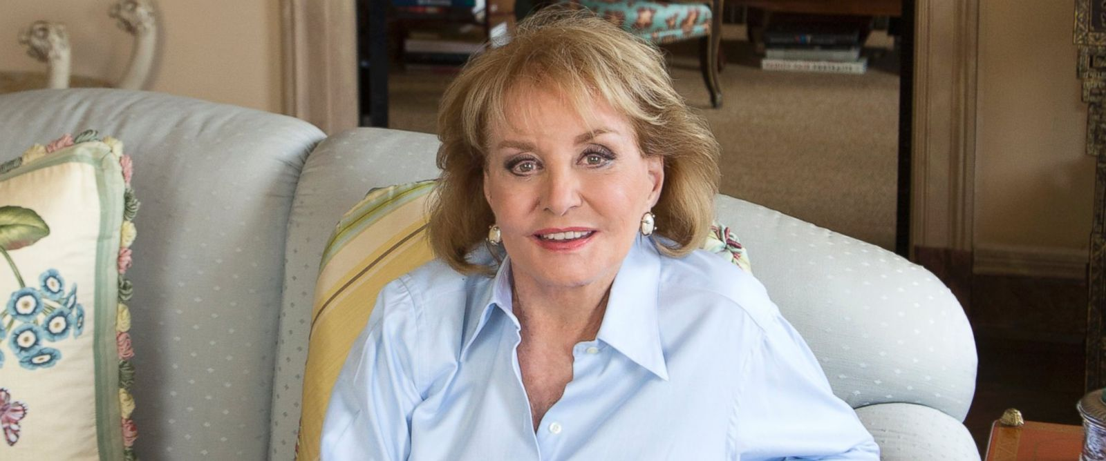 PHOTO: Barbara Walters at her New York home, April 30, 2014.