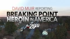 "PHOTO: David Muir reports on heroin in America for a special hour on ""20/20."""